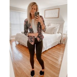 Free People Floral Light-Weight Tailored Jacket